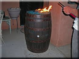 Propane Fire Pits With Glass Rocks by Convert A Wine Barrel Into A Safe Outdoor Firepit