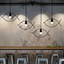 Dining Chandelier Lighting Aliexpress Com Buy Simple Fish Frame Pendant Lamp Chandelier