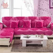 housses de canape princesse style violet disque floral polaire housse de