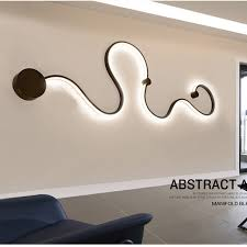 led wall mounted bedside lights modern abstract art decor led wall light bedside wall sconce
