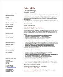 office manager resumes 8 free word pdf format download free