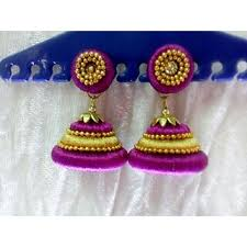 thread earrings silk thread earrings buy silk thread earrings online at best