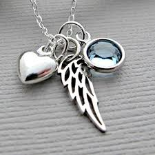 memorial gifts for loss of memorial gift sympathy gift angel wing necklace