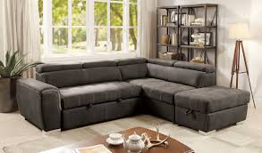 sectional sofas with ottoman lorna graphite sectional sofa ottoman cm6515bk furniture of