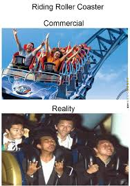 Roller Coaster Meme - roller coaster reality vs expectation funny pictures pinterest