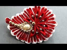 diy kanzashi hair clip for how to make beautiful beaded