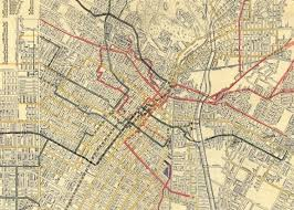 map of downtown los angeles transit history in los angeles a 1906 map of the city s streetcar