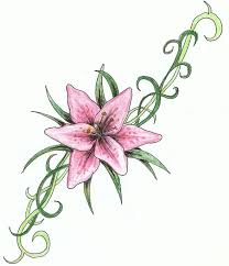 tiger lily tattoo drawings pictures to pin on pinterest tattooskid