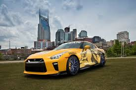 nissan gtr twin turbo bright yellow 2017 nissan gt r donated to nashville predators