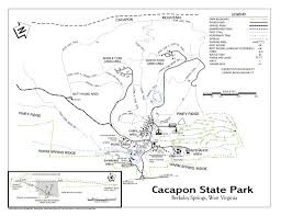 West Virginia State Parks Map by Cacapon Resort State Park Maplets