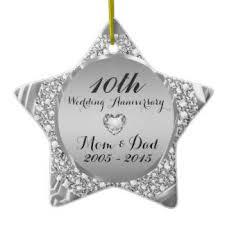 10th wedding anniversary ornaments keepsake ornaments zazzle
