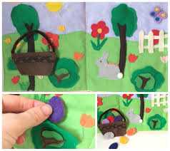 felt easter eggs easter book craft learn and play