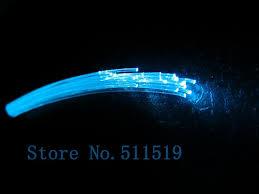 fiber optic light strands plastic end glow fiber cable 50 strands 0 75mm multi strands fiber