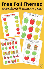 preschool and kindergarten worksheets for fall mess for less