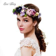 festival flower headbands 2017 women flower crown festival wedding party floral