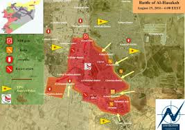 Syria On The Map by Day Of News On The Map August 22 2016 Map Of Syrian Civil War