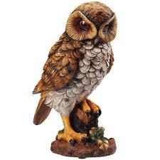 amazon com motion activated hooting owl decor shining eyes