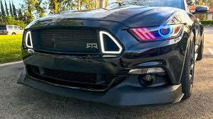 mustang gt rtr rtr chin spoiler install on 2015 2017 mustang gt