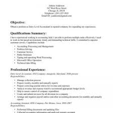 Sample Entry Level Accounting Resume No Experience Sample Accounting Resume No Experience Write A Personal Essay On