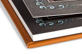 a photo album pacific flush mount albums with leatherette linen or photo covers