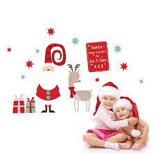 christmas wall stickers wall art kids santa christmas wall sticker