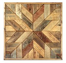 reclaimed wood quilt square 36 inch geometric wall