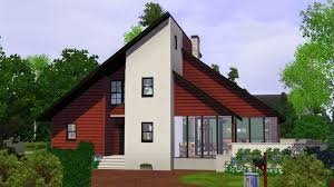 mod the sims 90s contemporary house houses tend to be white and so