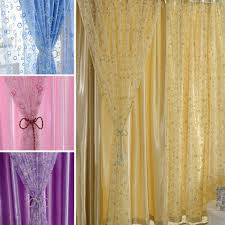 Pattern Drapes Curtains Circle Pattern Room Voile Window Curtains Sheer Panel Drapes