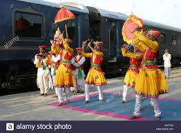 colourful welcome for passengers of the deccan odyssey luxury