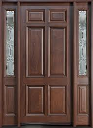 Exterior Door Wood Db 660w 2sl Mahogany Walnut Classic Series Wood Entry Doors From