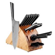 kitchen knives block set calphalon katana series 14 cutlery knife block set bed