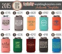 wedding koozie ideas top 10 totally wedding koozie designs of 2015 totally wedding