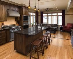 light wood flooring kitchen
