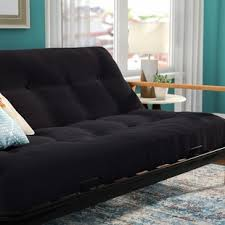 edmund folding futon sleeper sofa tri fold futon mattress wayfair