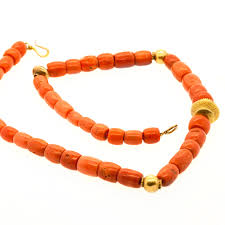beads gold necklace images Tibetan coral gold necklace jpg