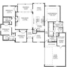 4 bedroom home plans fascinating 4 bedroom plus office house plans gallery best