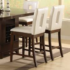 breakfast table with storage chic white vinyl upholstered kitchen counter height with dining