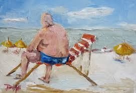 painting of the day daily oil paintings by delilah beach people
