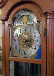 German Grandfather Clocks 1950s Herschede Grandfather Clock With Five Tubes Brass Dial And