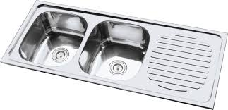 Impressive Double Stainless Steel Sink Stainless Steel Kitchen - Kitchen sink double bowl double drainer