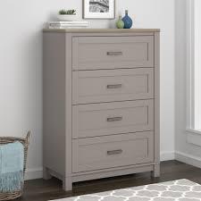 Ameriwood Bedroom Furniture by Ameriwood Furniture Carver 4 Drawer Dresser Gray Light Brown