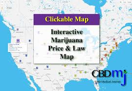 Medical Marijuana Legal States Map by Medical Marijuana Price Index And Laws An Interactive Map Cbd