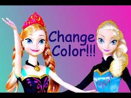 frozen elsa anna barbie dolls color change dress disney frozen
