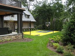 Build A Basketball Court In Backyard Backyard Basketball Court Explore Pictures On Excellent Half Court