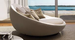 round sofa contemporary leather fabric lacoon island by