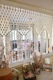 bohemian macrame curtain room divider wall by bohochoco