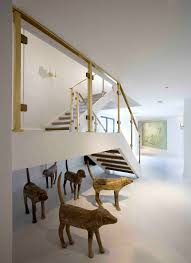 Dog House Interior Doggie Stairs In Staircase Contemporary With Modern Art Deco