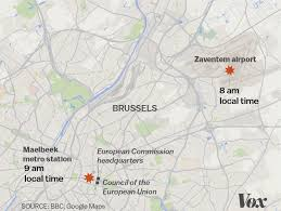 belgium subway map attacks in the airport and metro in brussels what we from