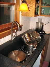 brushed nickel kitchen sink strainer delta faucet fixtures