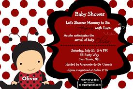 template ladybug baby shower invitations
